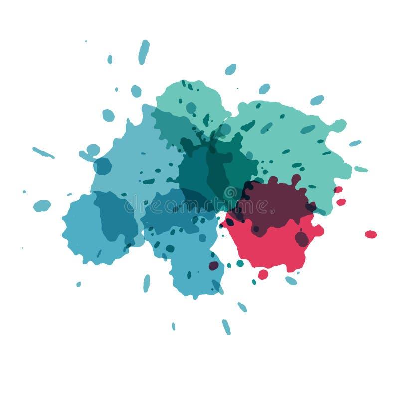 La acuarela salpica Pinte el splat del vector ilustración del vector