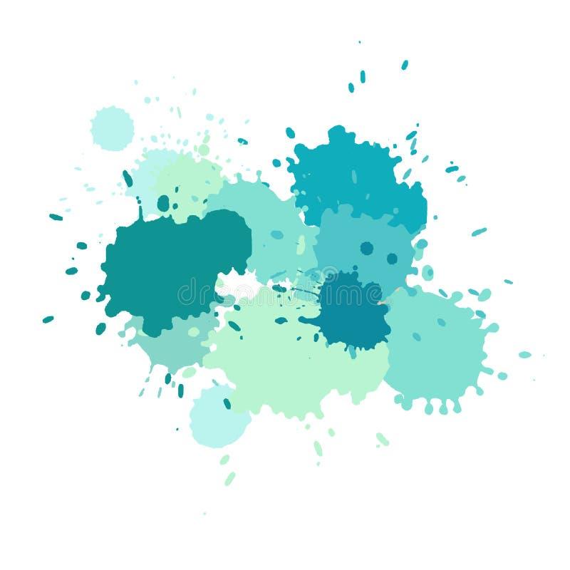 La acuarela salpica Pinte el splat del vector libre illustration