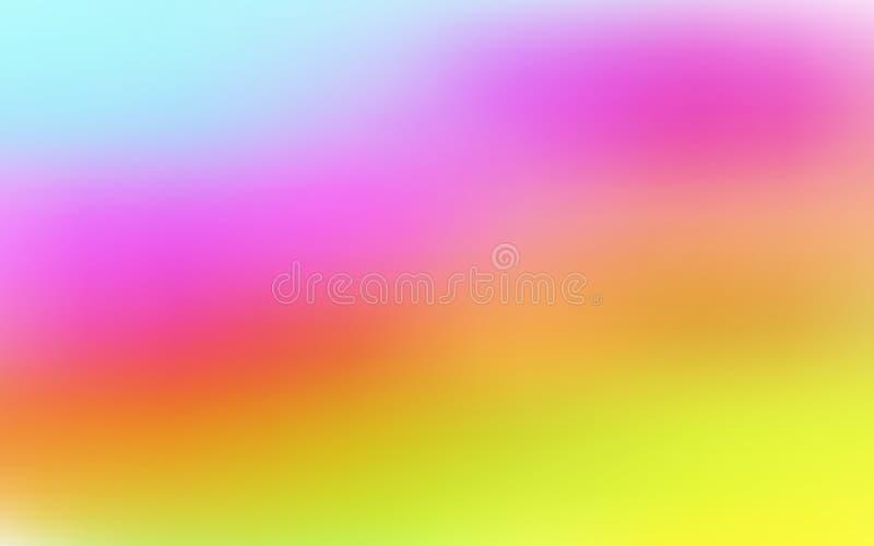 La acuarela texturizó el fondo abstracto en rosado, azul claro y amarillo ilustración del vector
