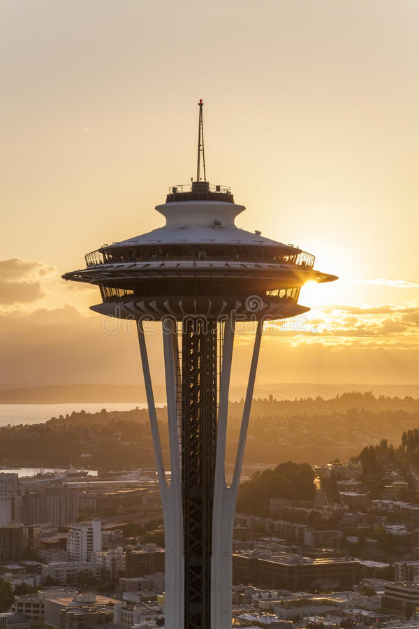 La aguja del espacio, Seattle, Washington, los E.E.U.U. fotografía de archivo
