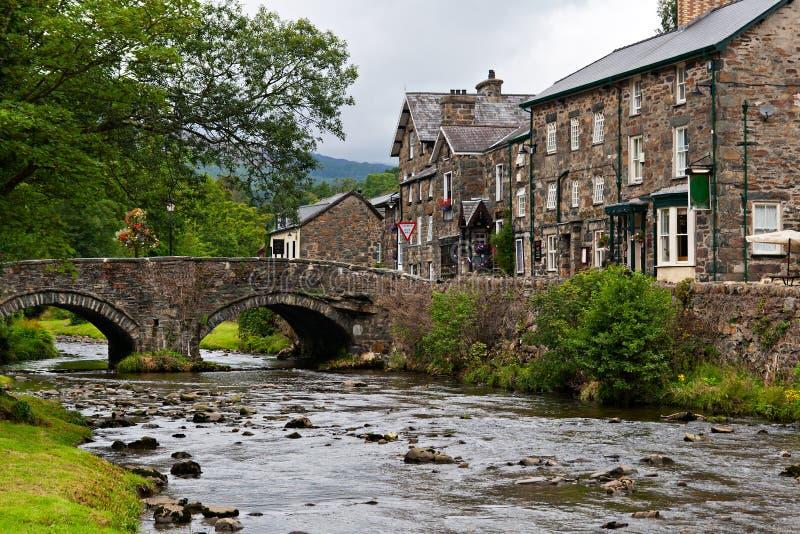 La aldea de Beddgelert foto de archivo libre de regalías
