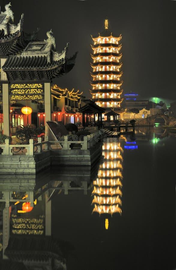 La aldea Zhouzhuang cerca de Shanghaii en China imágenes de archivo libres de regalías