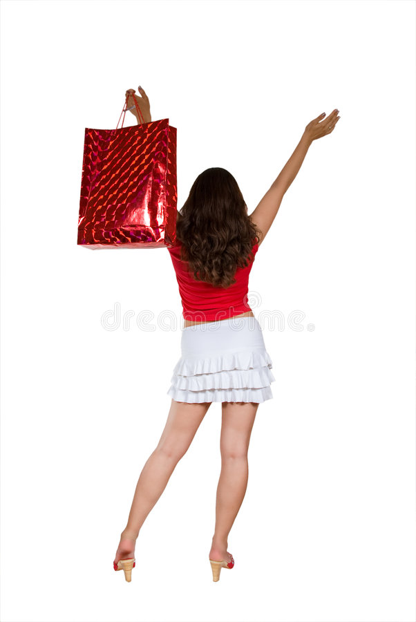 La alegría de las compras fotografía de archivo libre de regalías