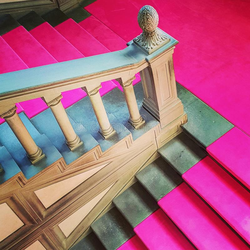La alfombra rosada imagen de archivo libre de regalías