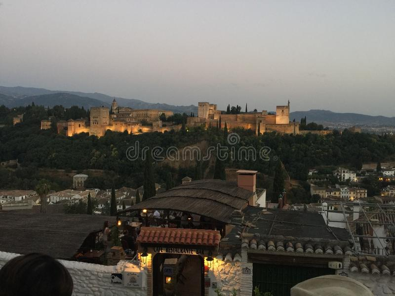 la alhambra стоковое изображение
