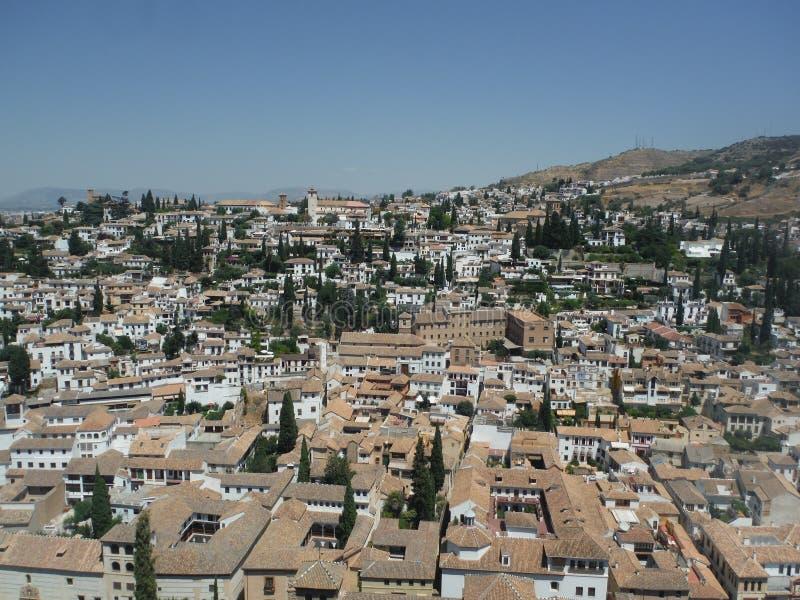 La Alhambra del desde del vista de Granada foto de archivo libre de regalías