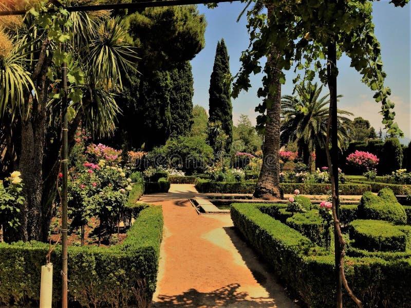 La Alhambra, en fantastisk stor slott arkivfoto