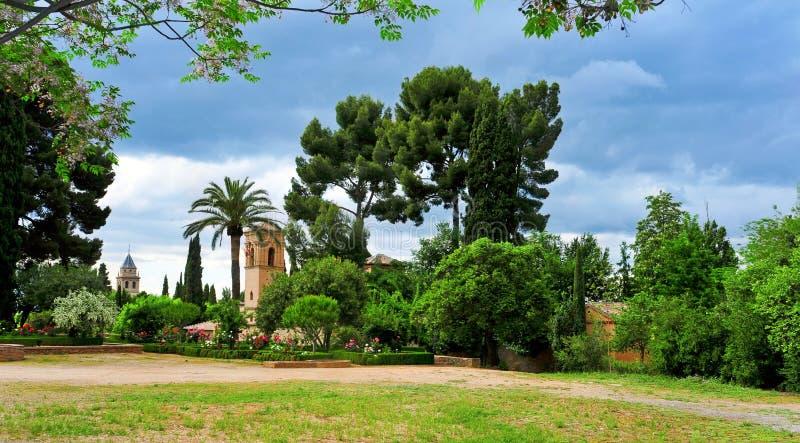 La Alhambra i Granada, Spanien arkivbild