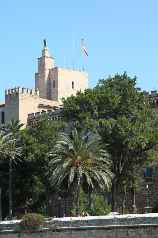 La Almudaina royalty free stock photography
