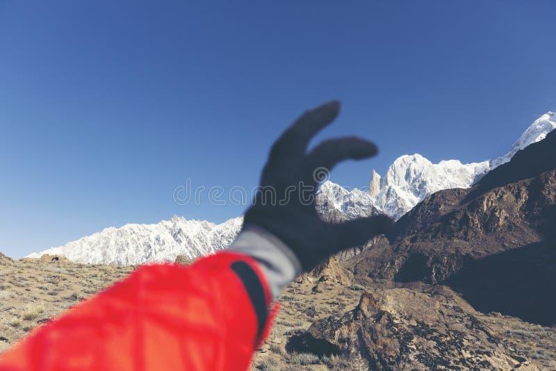 La altitud máxima del melindre 6.200 M en las montañas del karakoram sonó fotografía de archivo libre de regalías