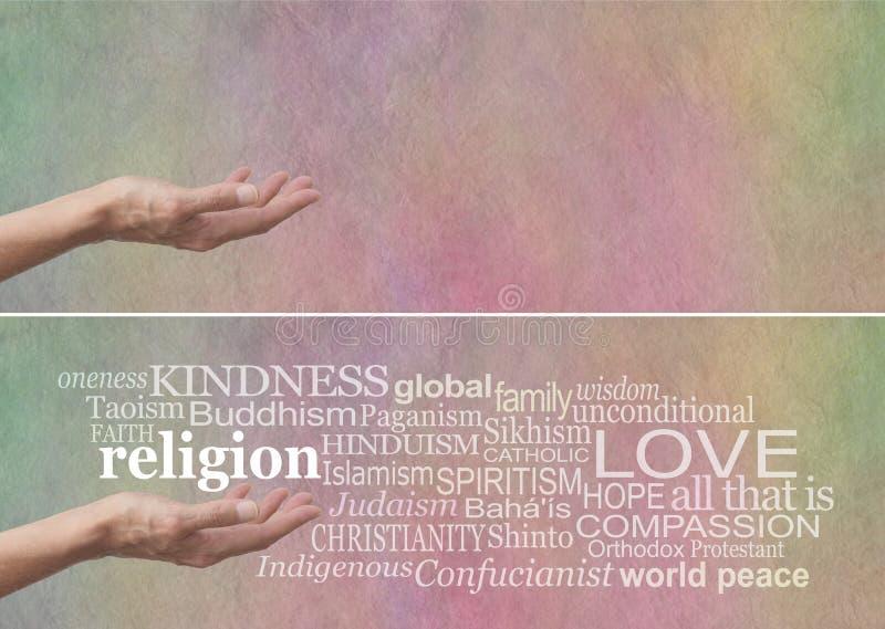 La AMABILIDAD no es la ninguna 1 religión imagen de archivo libre de regalías