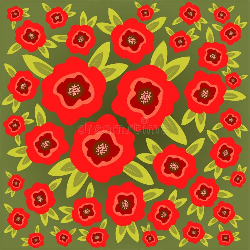 Download La Amapola Florece El Fondo Ilustración del Vector - Ilustración de fondo, modelo: 7282905