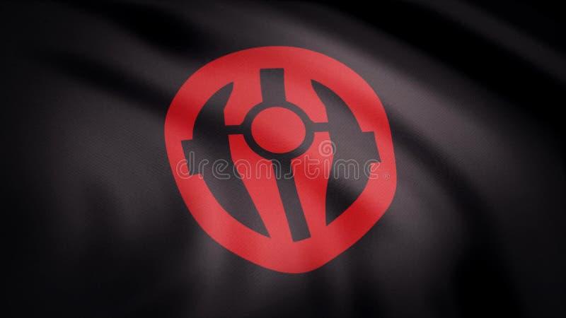 La animación de la bandera del símbolo de Mandalorian El tema de las Guerras de las Galaxias Uso del editorial solamente imagen de archivo
