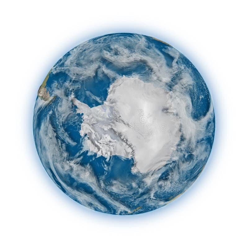 La Antártida en la tierra del planeta stock de ilustración