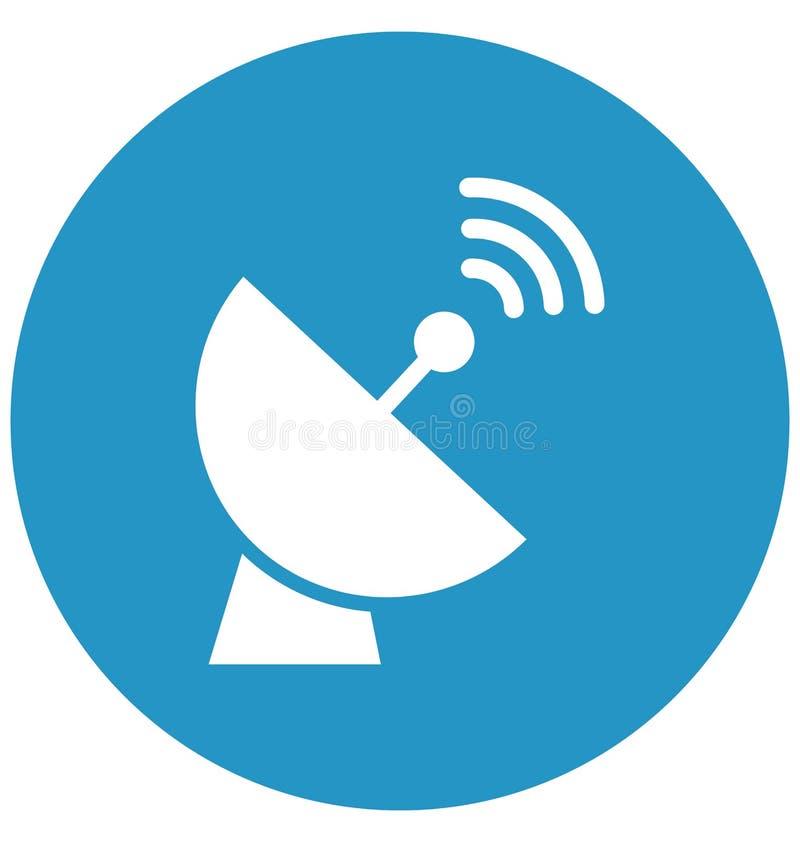 La antena de plato aisló el icono del vector que puede modificarse o corregir fácilmente libre illustration