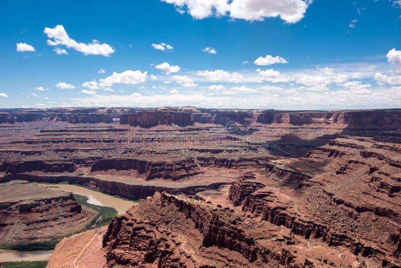La antena del parque de estado del punto del caballo muerto pasa por alto en Utah El río Colorado en foto foto de archivo