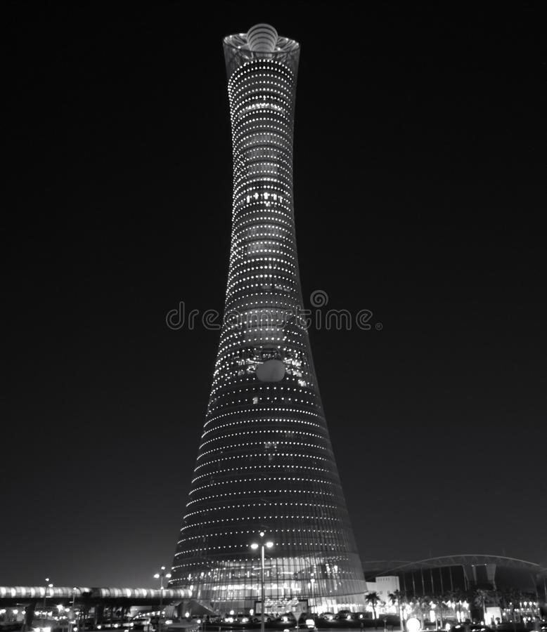 La antorcha Doha fotografía de archivo libre de regalías