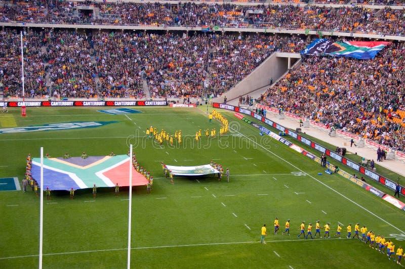 La apertura de la Suráfrica contra la manta de Nueva Zelandia fotos de archivo