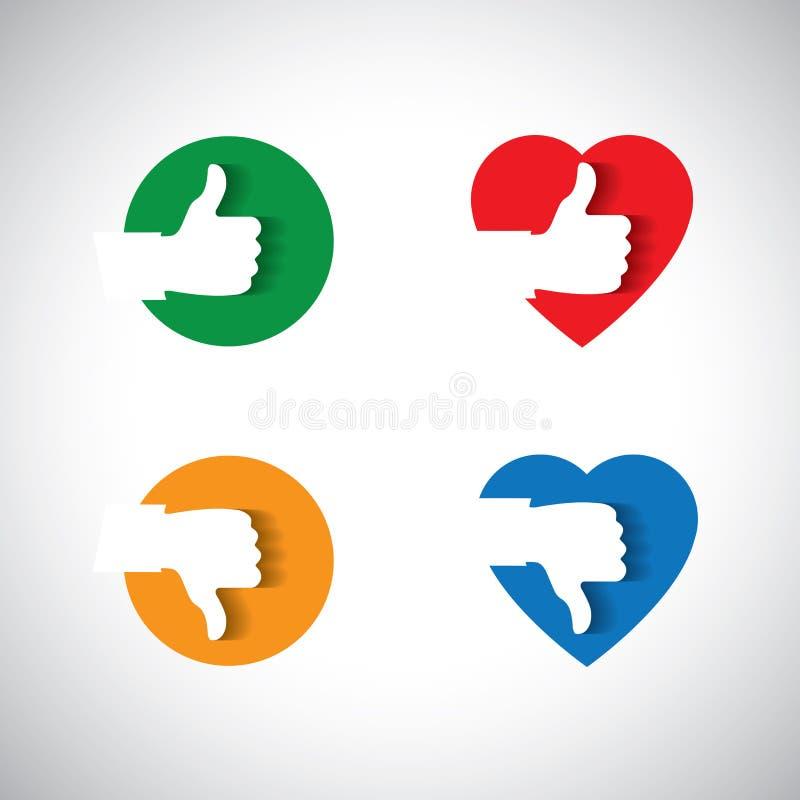 La aprobación le gusta la confirmación y del icono aceptable, - vector el concepto stock de ilustración