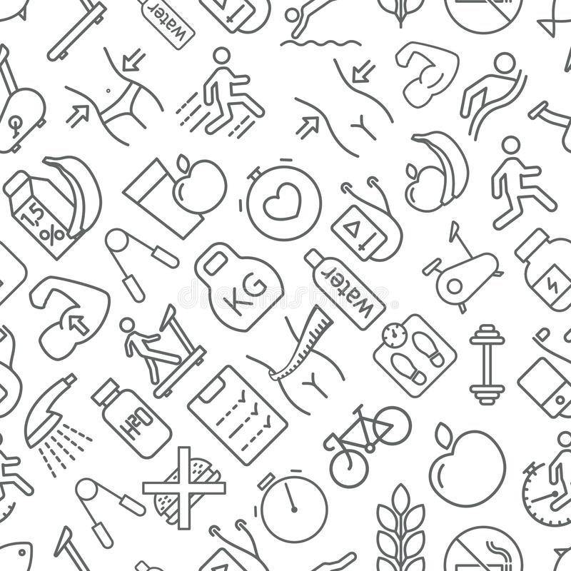 La aptitud inconsútil y la forma de vida sana modelan gris en el CCB blanco libre illustration