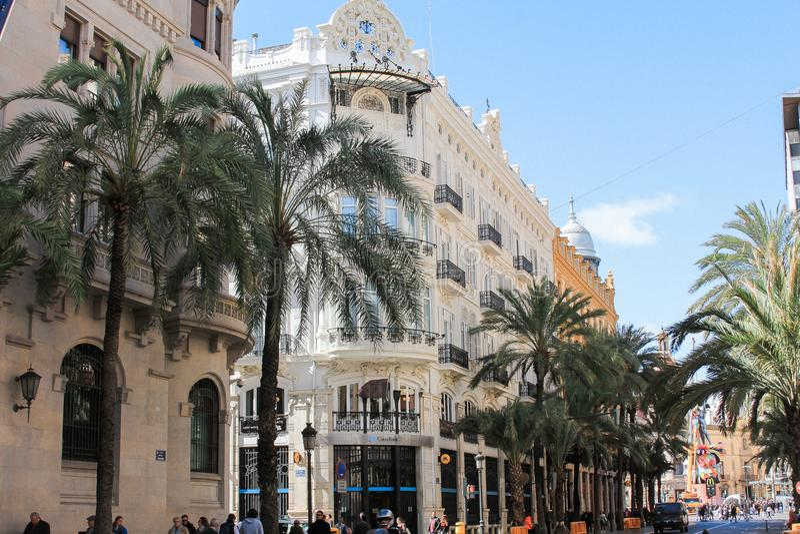 La Architekturde centre de ville, Valencia, Spanien lizenzfreie stockfotografie