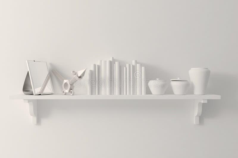 la arcilla 3d rinde de decoraciones interiores stock de ilustración