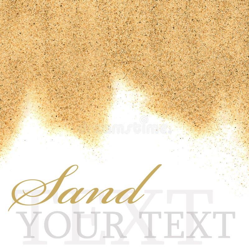 La arena aislada en el fondo blanco imágenes de archivo libres de regalías