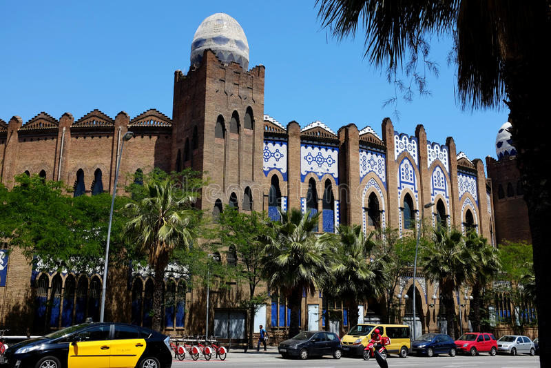 La - arena da tourada - Barcelona monumental fotografia de stock royalty free