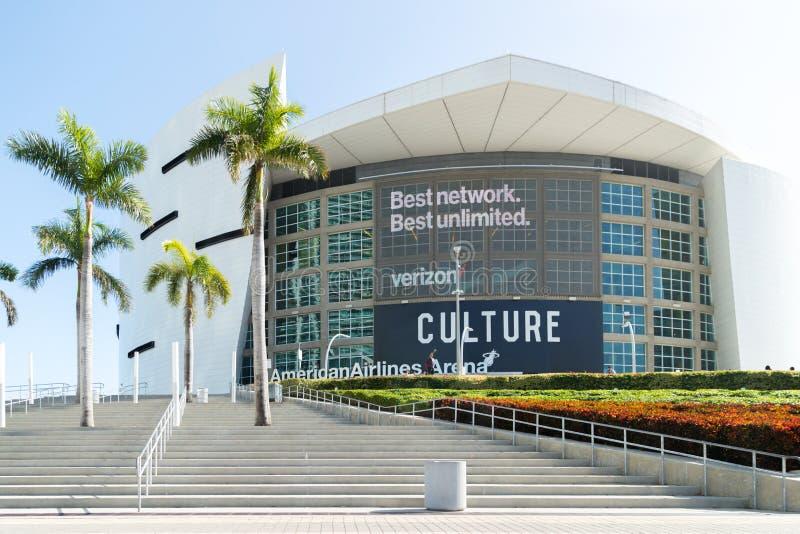 La arena de American Airlines es casera a la Miami imagen de archivo
