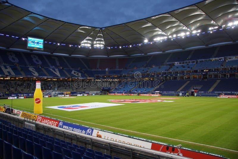 La arena de HSV durante el juego Hamburgo contra Francfort fotos de archivo