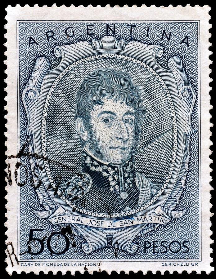 La Argentina en sellos foto de archivo