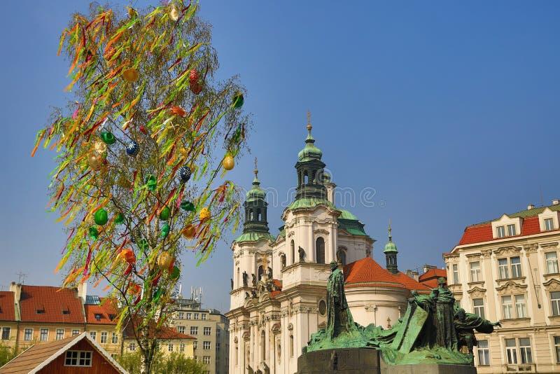 La arquitectura de las casas viejas, ciudad vieja, Praga, República Checa imagen de archivo