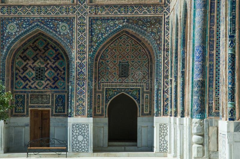 La arquitectura de Samarkand antigua foto de archivo libre de regalías