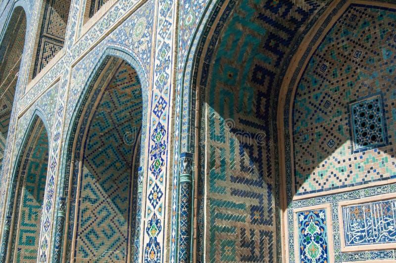 La arquitectura de Samarkand antigua imagenes de archivo