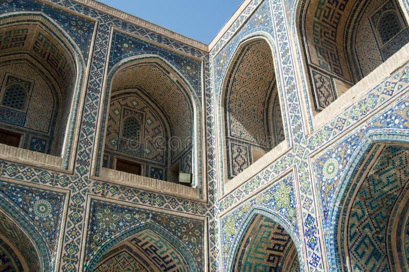 La arquitectura de Samarkand antigua foto de archivo