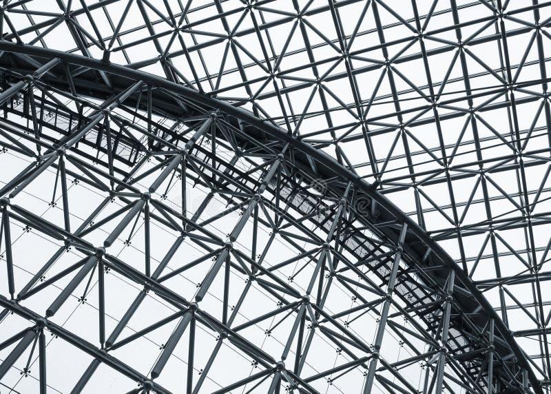 La arquitectura del modelo del tejado de la estructura de acero detalla el edificio moderno fotos de archivo