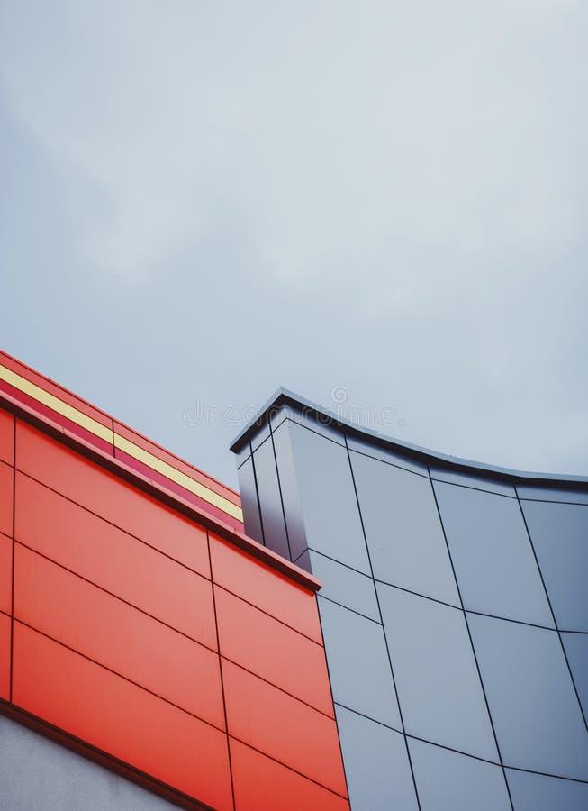 La arquitectura detalla el edificio moderno imagen de archivo