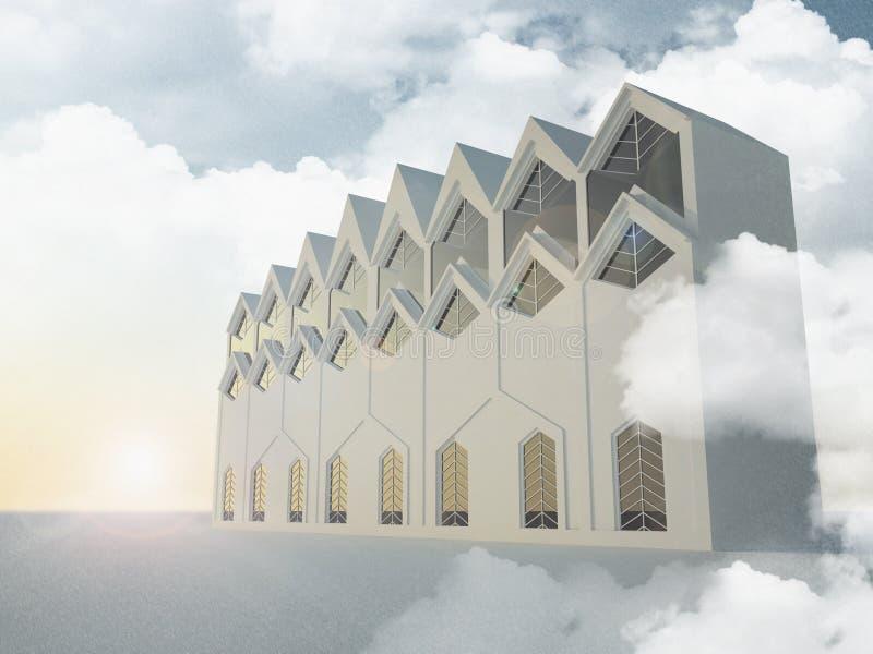 La arquitectura nórdica rinde fotos de archivo