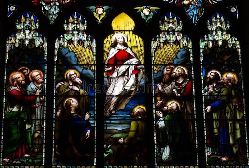 La ascensión de Jesus Christ foto de archivo libre de regalías