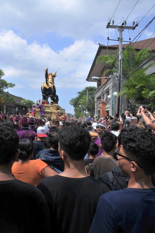 la asignación del ` archiva la ceremonia real de la cremación del `, Bali, Indonesia, Asi fotos de archivo libres de regalías