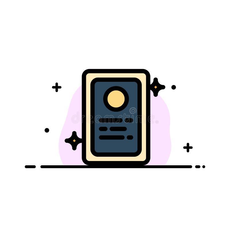 La asignación, uso de trabajo, línea plana del negocio de la prueba llenó la plantilla de la bandera del vector del icono libre illustration