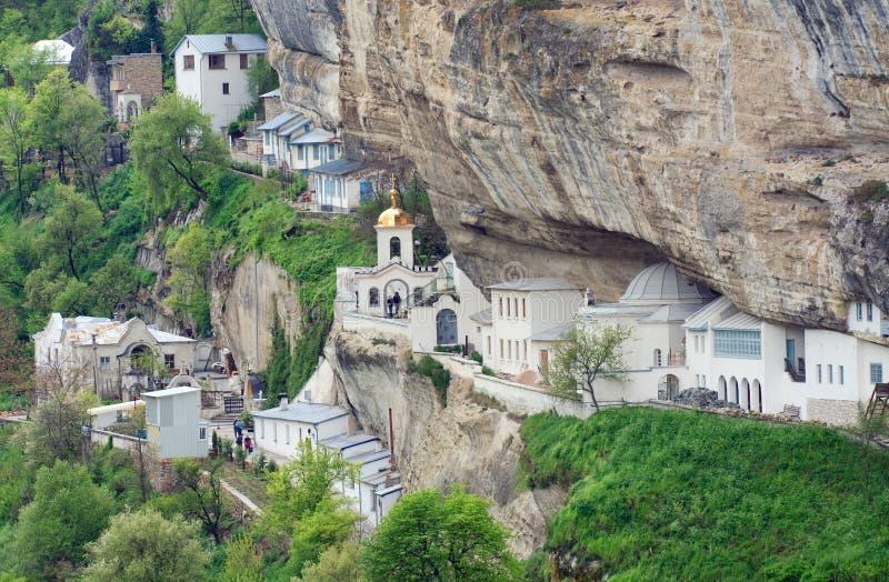 La asunción de Bakhchisaray excava el monasterio foto de archivo libre de regalías