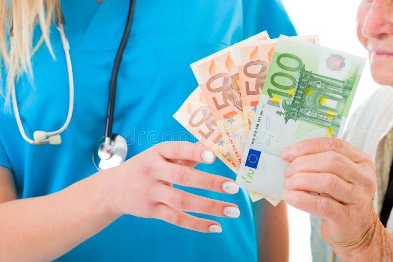 La atención médica cuesta demasiado imágenes de archivo libres de regalías