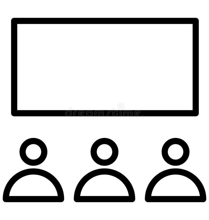 La audiencia aisló el icono del vector que puede modificar o corregir fácilmente el icono aislado audiencia del vector que puede  stock de ilustración