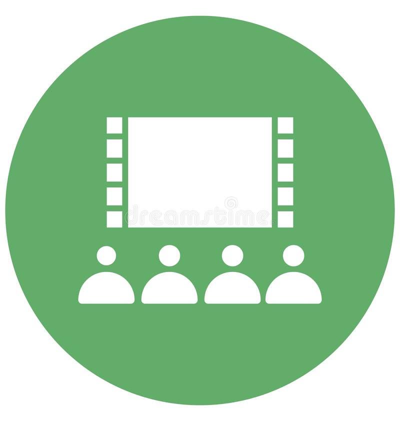 La audiencia aisl? el icono del vector que puede modificar o corregir f?cilmente el icono aislado audiencia del vector que puede  stock de ilustración
