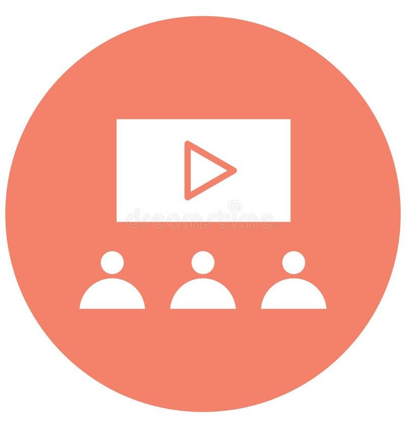 La audiencia aisl? el icono del vector que puede modificar o corregir f?cilmente el icono aislado audiencia del vector que puede  ilustración del vector