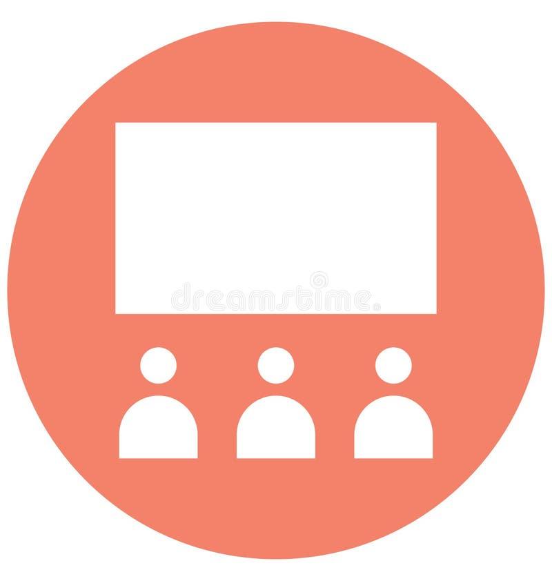 La audiencia aisl? el icono del vector que puede modificarse o corregir f?cilmente stock de ilustración