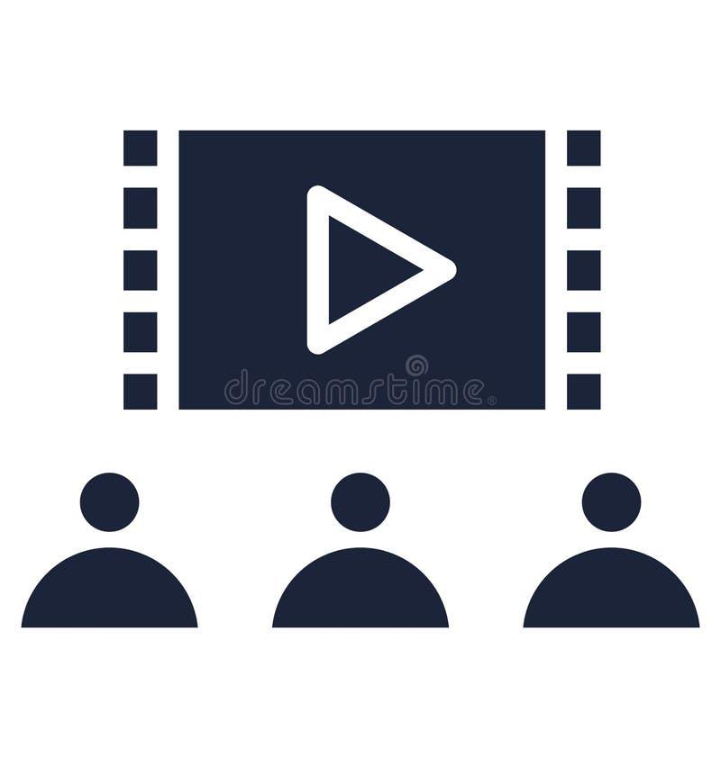 La audiencia aisl? el icono del vector que puede modificarse o corregir f?cilmente libre illustration