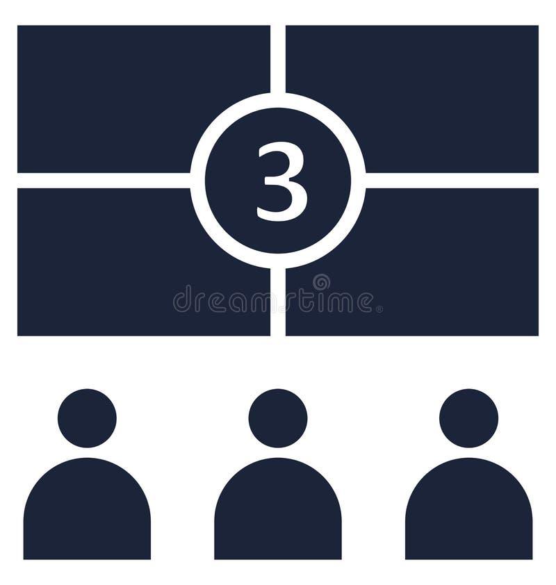La audiencia aisl? el icono del vector que puede modificarse o corregir f?cilmente ilustración del vector