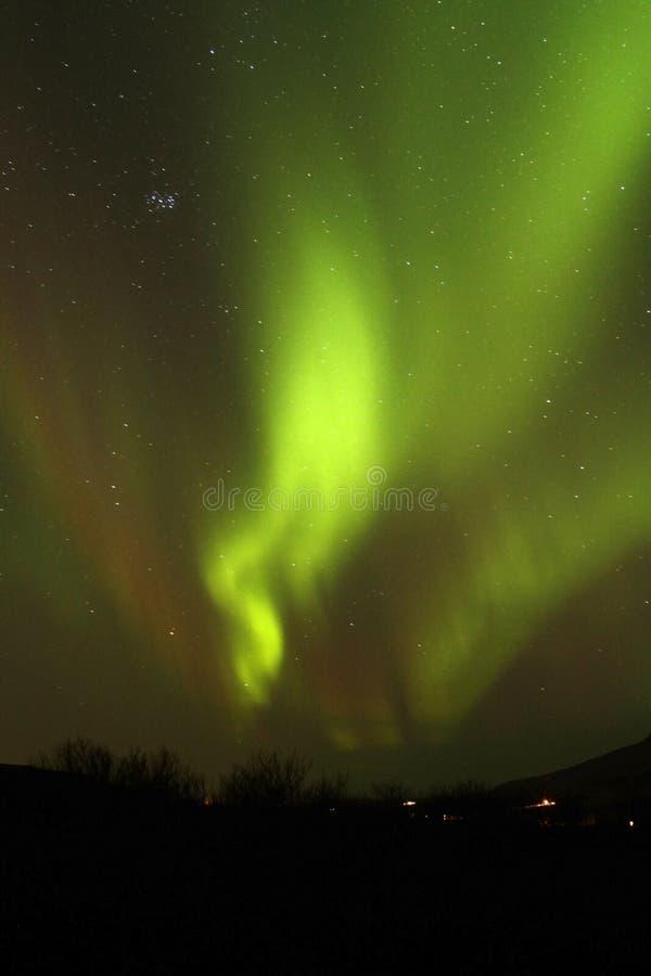La aurora boreal 1 fotos de archivo